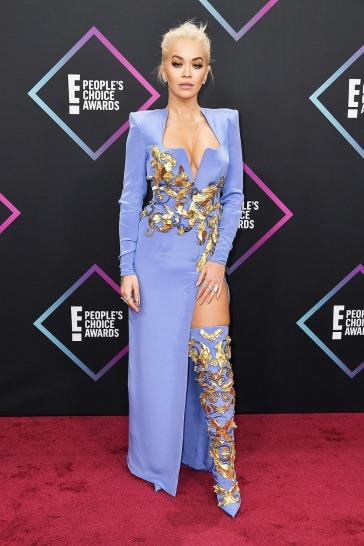 Rita Ora in Atelier Versace Fall 2018 Couture
