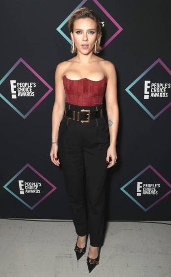 Scarlett Johansson in Versace Resort 2019