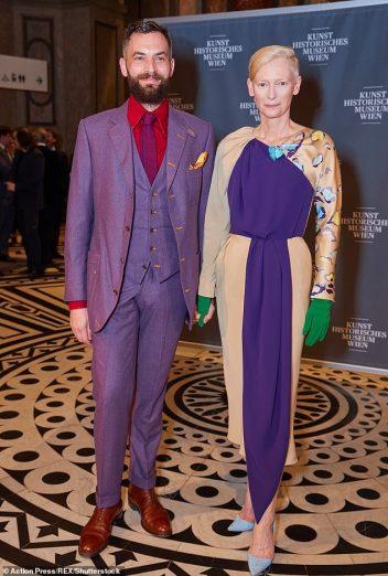 Tilda Swinton in Schiaparelli Fall 2018 Couture-1