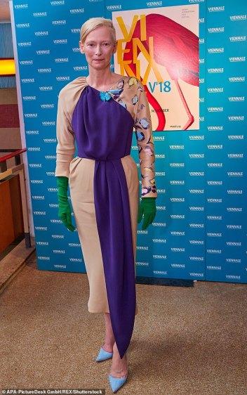 Tilda Swinton in Schiaparelli Fall 2018 Couture-2