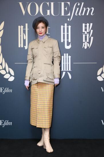 Zhao Wei in Marine Serre & Balenciaga Fall 2018