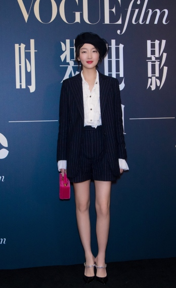 Zhou Dongyu in Philosophy di Lorenzo Serafini Resort 2019