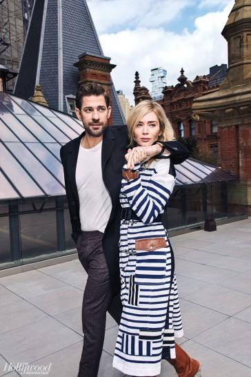 Emily Blunt and John Krasinski for The Hollywood Reporter-1
