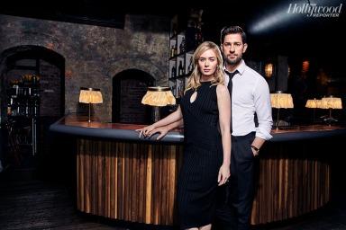 Emily Blunt and John Krasinski for The Hollywood Reporter-4