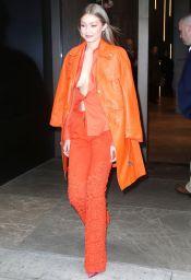 Gigi Hadid in Ronald van der Kemp Spring 2018 Couture & Moschino-4
