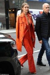 Gigi Hadid in Ronald van der Kemp Spring 2018 Couture & Moschino-8