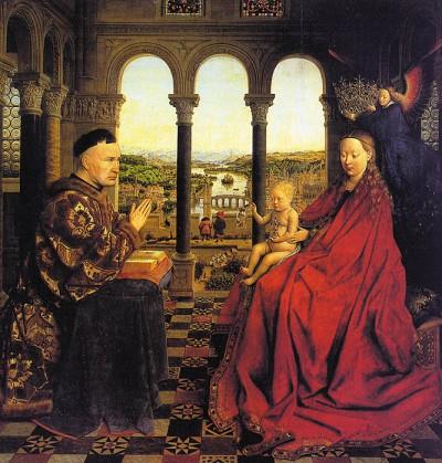 Jan Van Eyck - Madonna Met Kanselier Rolin 1435