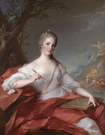Madame Boudrey as a Muse 1752