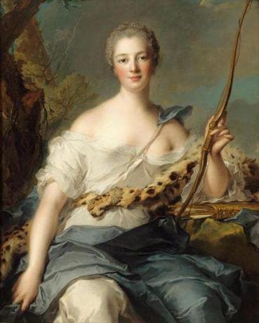 Madame de Pompadour as Diana the Huntress 1746