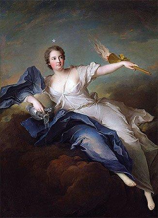 Portrait of Marie-Anne de Mailly-Nesle Marquise of La Tournelle as Eos 1740