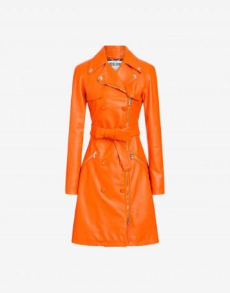 Moschino Orange trench coat