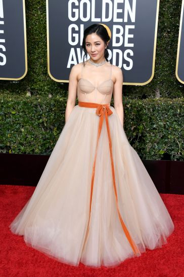 constance wu in vera wang bridal fall 2019-2