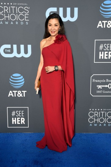 michelle yeoh in marchesa pre-fall 2019