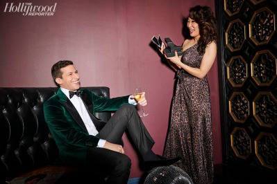 sandra oh & andy samberg the hollywood reporter january 2019-2