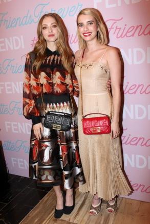 Fendi Baguette Launch with Amanda Seyfriend and Emma Roberts