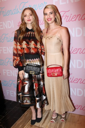 Fendi Baguette Launch with Amanda Seyfriend and Emma Roberts