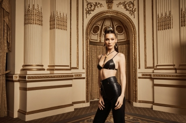 Bella Hadid for Kith x Versace Campaign 2019-6