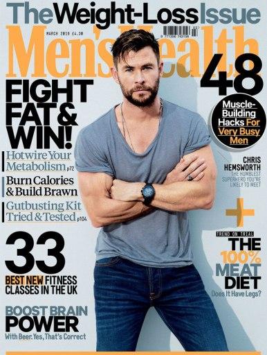 Chris Hemsworth Men's Health Australia March 2019 Cover B