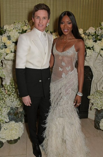 Eddie Redmayne in Alexander McQueen Spring 2019 Menswear & Naomi Campbell in Alexander McQueen Fall 2016-1