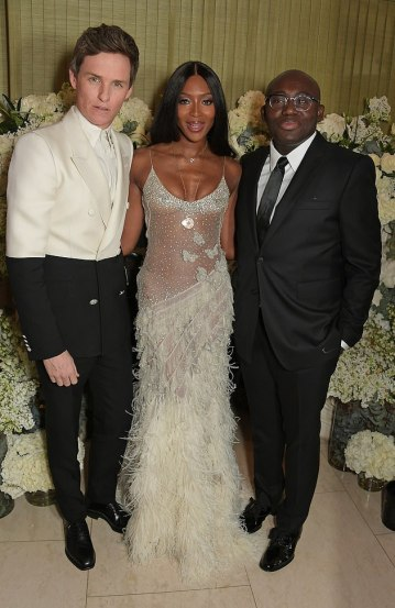 Eddie Redmayne in Alexander McQueen Spring 2019 Menswear & Naomi Campbell in Alexander McQueen Fall 2016-2