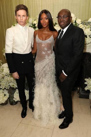 Eddie Redmayne in Alexander McQueen Spring 2019 Menswear & Naomi Campbell in Alexander McQueen Fall 2016