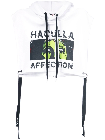 Haculla affection crop top hoodie