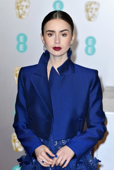 Lily Collins in Givenchy Spring 2019 Couture-1