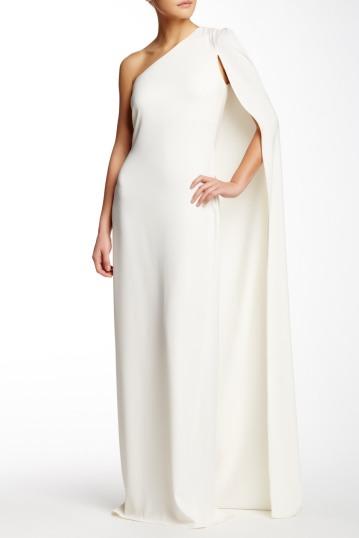 Stella McCartney One Shoulder Cape Gown