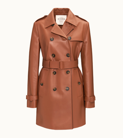 Tod's Leather trench coat