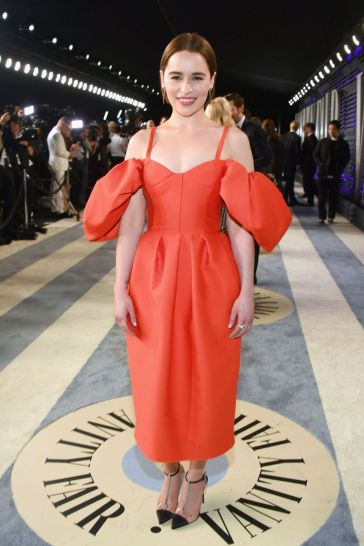 Emilia Clarke in Rosie Assoulin Fall 2019
