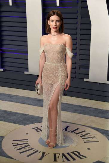 Emma Roberts in Yanina Couture