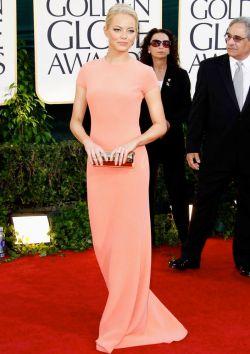 Emma Stone in Calvin Klien for 2010 Golden Globes