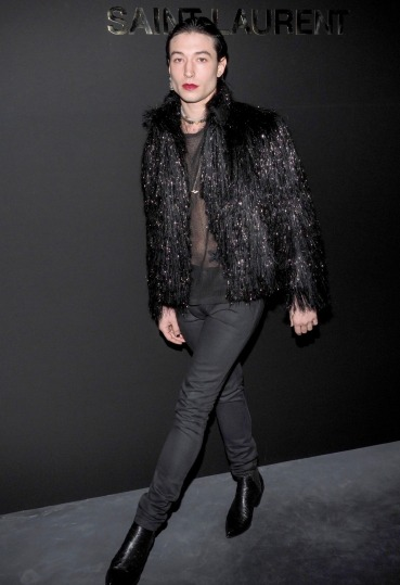 Ezra Miller in Saint Laurent Spring 2019 Menswear-3