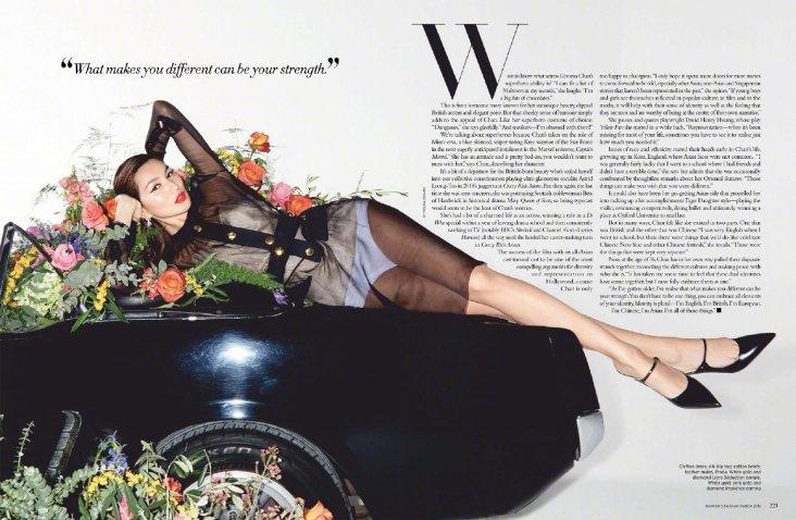 Gemma Chan for Harper's Bazaar Singapore March 2019-7
