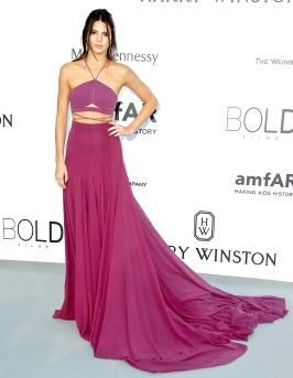 Kendall Jenner wearing Calvin Klein at the amfAR Cinema Against AIDS Gala in 2015