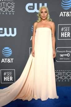 Lady Gaga in Clavin Klien for Critics' Choice Awards 2018