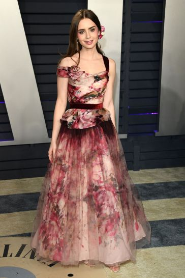 Lily Collins in Marchesa Fall 2019-2