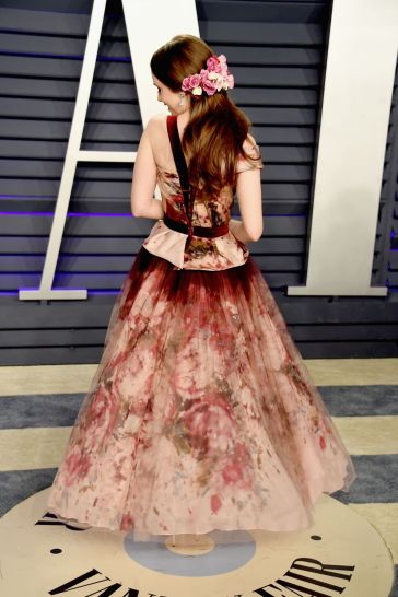 Lily Collins in Marchesa Fall 2019-4
