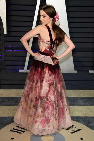 Lily Collins in Marchesa Fall 2019-5