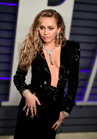 Miley Cyrus in Saint Laurent-1