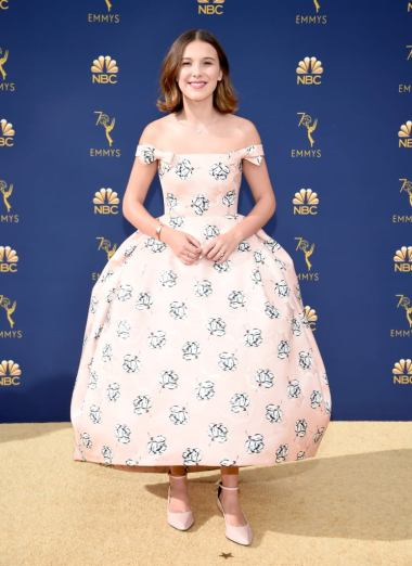 Millie Bobby Brown in Calvin Klien for 2018 Emmy Awards