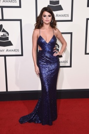 Selena Gomez in Calvin Klein for 2016 Grammy