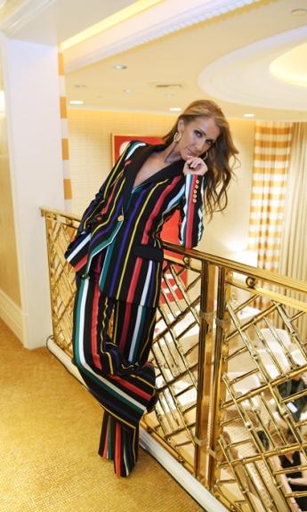Celine Dion in Elie Saab Spring 2019-1