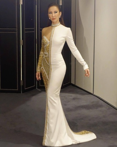 Coco Lee in Nicolas Jebran Spring 2017 Couture