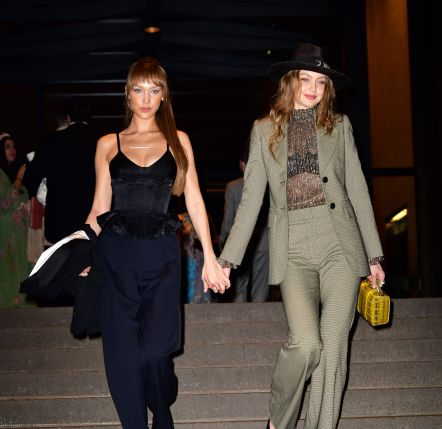 Gigi Hadid and Bella Hadid in The Marc Jacobs Pre-Fall 2019