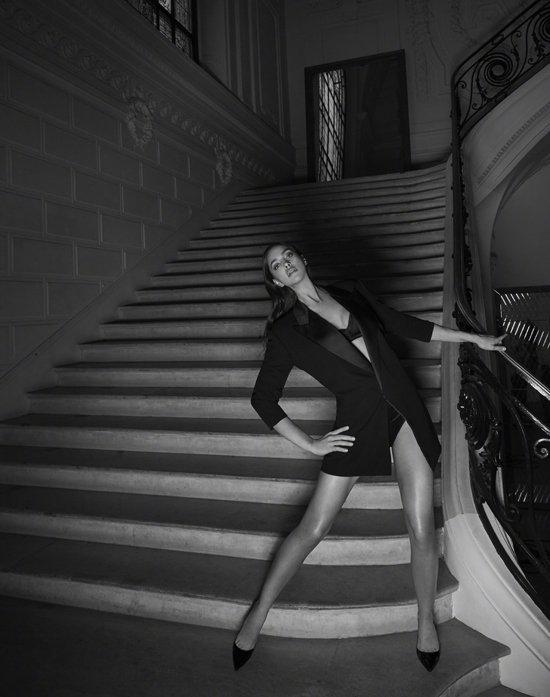 Irina Shayk XJean Paul Gaultier Scandal a Paris Campaign-8