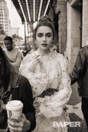 Lily Collins for PAPER April 2019-2