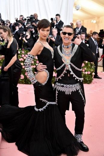 Bella Hadid and Jeremy Scott in Moschino