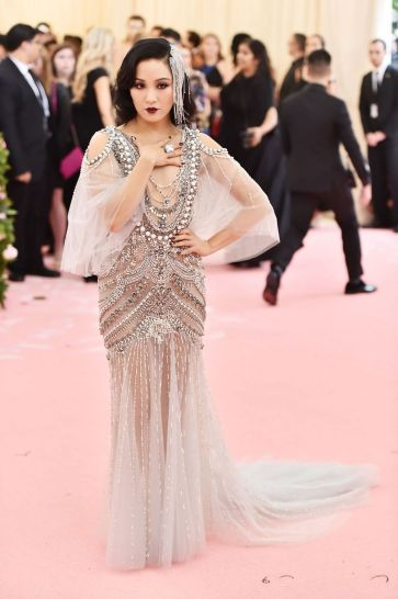 Constance Wu in Marchesa Spring 2018