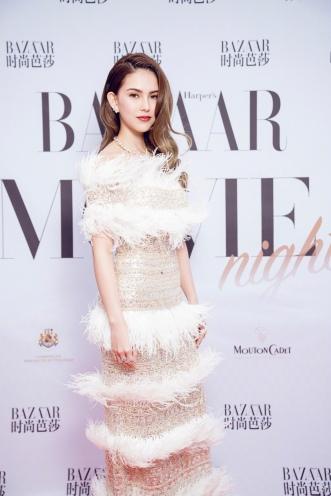 Hannah Quinlivan in Nicole + Felicia Fall 2019 Couture-7
